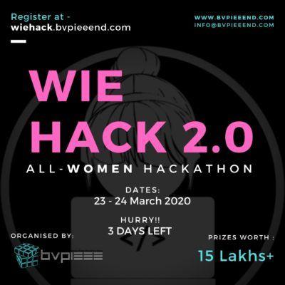 WieHACK 2.0 - All Women Hackathon | Register | Online Invite