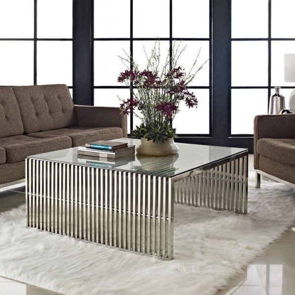 Resultado De Imagen Para Metallic Modern Coffee Table