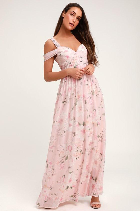 45++ Pink floral maxi dress info