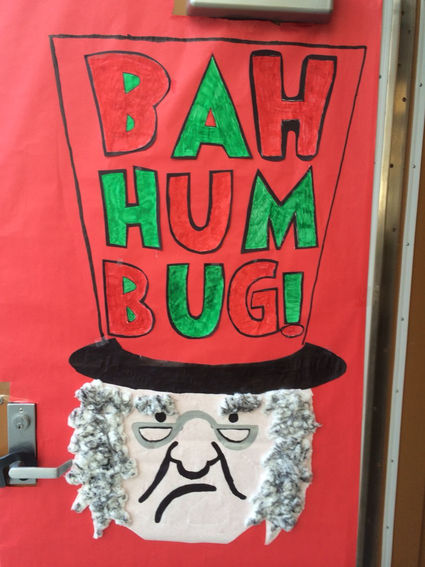 Another Door Decorating Idea Traced Letters And Scrooge