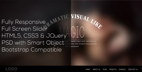 Blur  Single Page Responsive Template