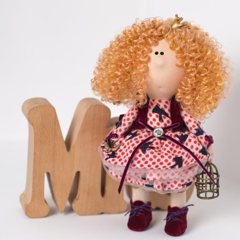 Интерьерная кукла из текстиля Принцесса с Птичкой   Куклы ...
