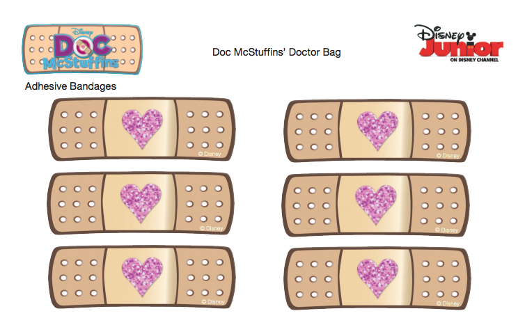 Free Bandaid Sticker Printable Cute To Seal The Envelope Before Sending In The Mail Doc Mcstuffins Birthday Party Doc Mcstuffins Party Doc Mcstuffins Birthday