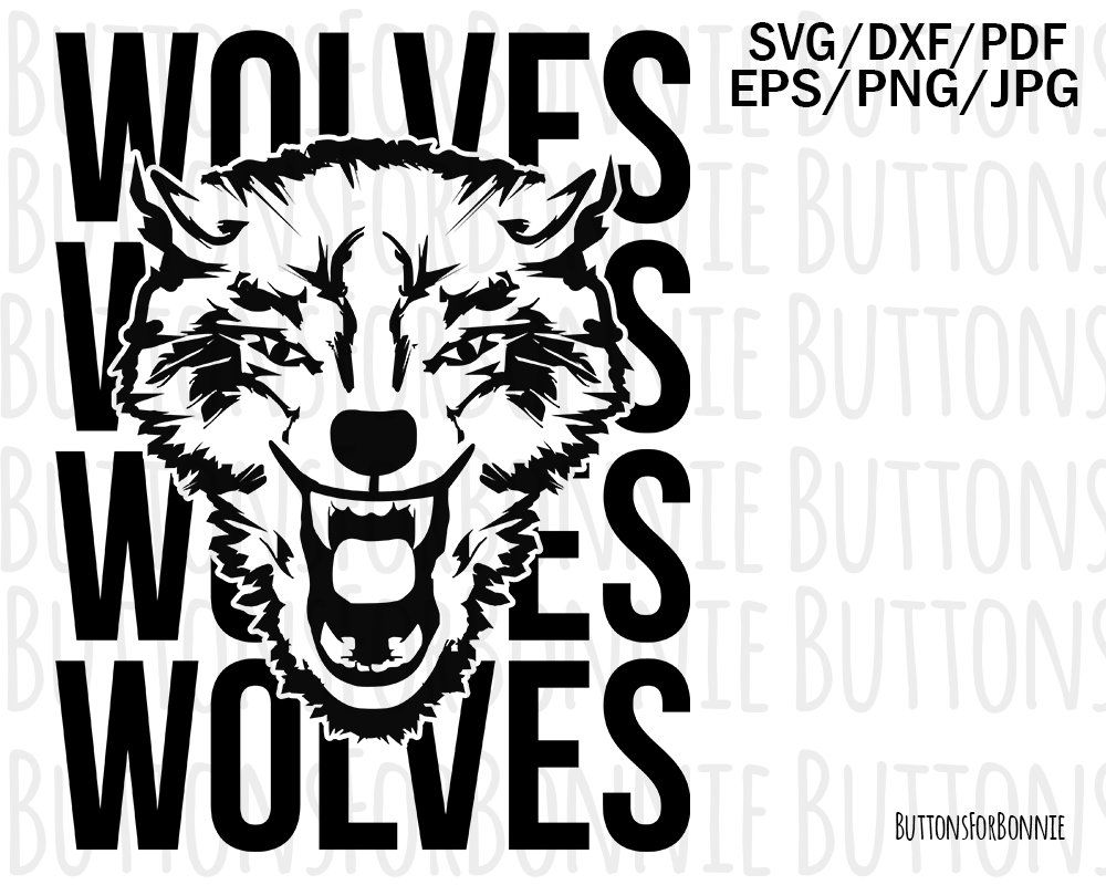 589943249 Wolves svg, mascot svg, football, baseball, basketball, softball, volleyball,  lacrosse, sports mom svg, soccer, cheer, school spirit svg by  ButtonsForBonnie ...