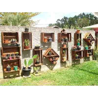 Cajones de madera feria nuevos standard o a medida for Jardin vertical mercadolibre