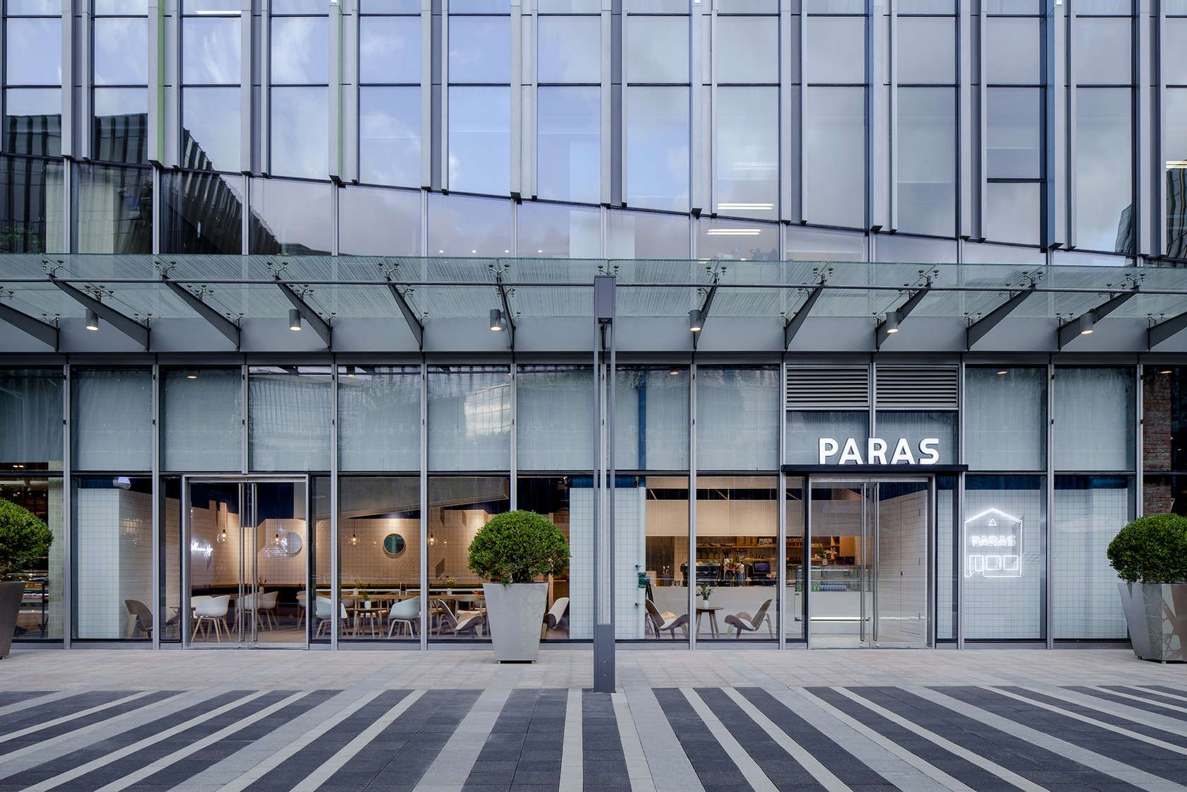 Located in the Hongqiao Vanke Center in Shanghai, the Paras Cafe ...