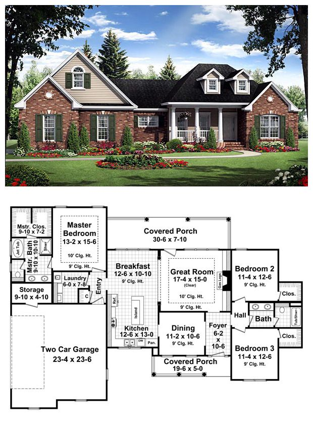 1800s Country Homes: Traditional Style House Plan Number 59181 With 3 Bed, 2