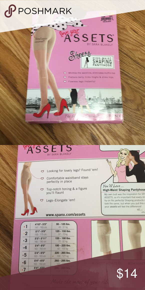 9a6ed3674 Assets in nude size 2 Never opened box of nude sheer high waist shaping  pantyhose.