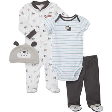 Carter's® 4-pc. Layette Set - Boys newborn-9m - jcpenney