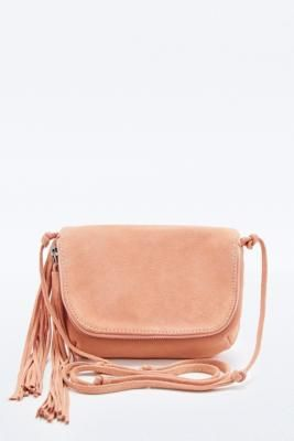 0c24dbbaaa60 Kimchi Blue Suede Tassel Cross-Body Bag in Pink - Urban Outfitters ...