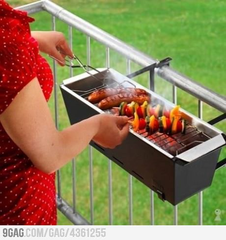 Balcony grill for apartments! | Balcony grill, Balconies and Grilling