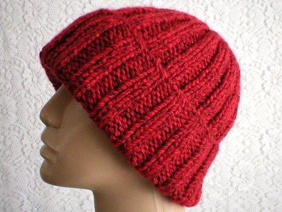 d6d2b1756 Red tweed watch cap brimmed beanie slouchy hat seafarers cap beanie ...