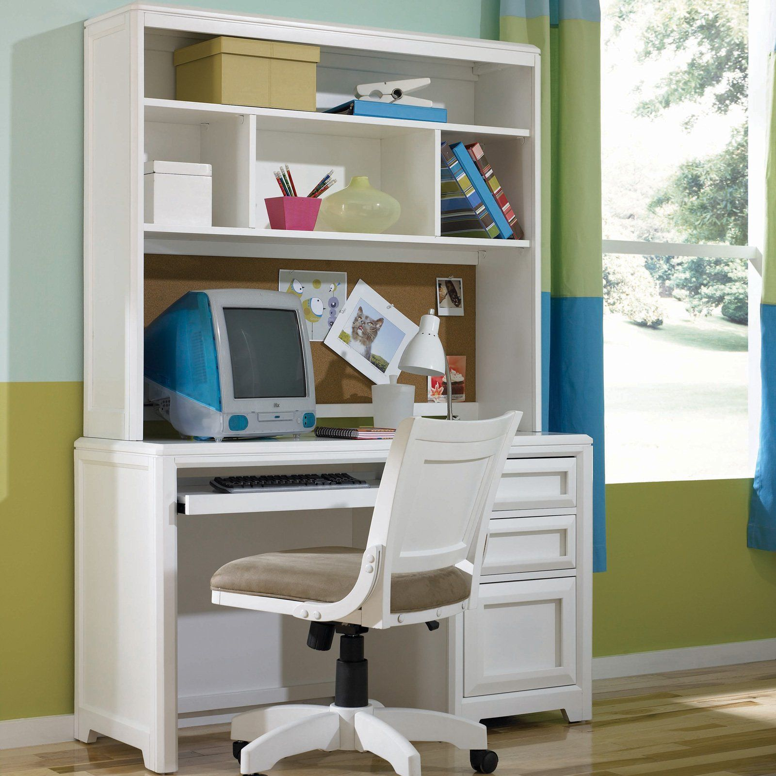 MyRoom Parchment and Gray Desk Youth desk, Furniture