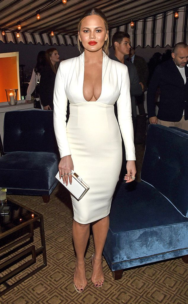 I See Ivory from Chrissy Teigen's Best Looks  In Sergio Hudson.