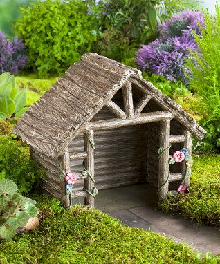 High Quality Miniature Fairy Garden Shed Figurine