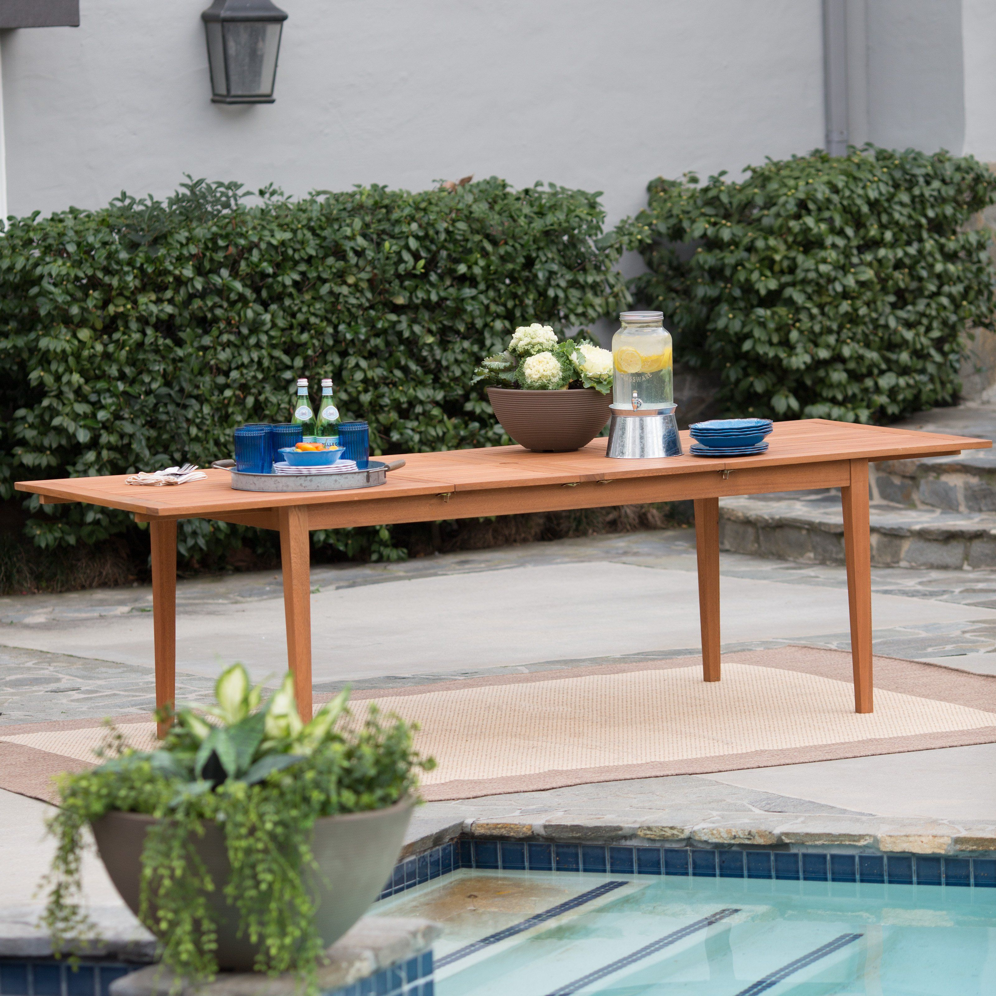 Have to have it. Belham Living Brighton Extension Outdoor Dining Table - Natural - $749.99 @hayneedle