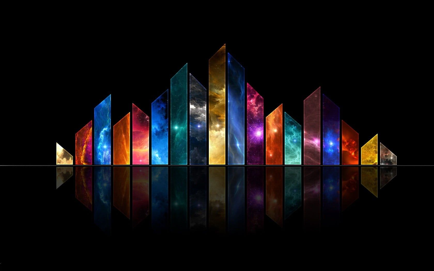 Assorted Color Bar Digital Wallpaper Stars Space Art Digital Art Reflection Collage 720 Abstract Wallpaper Abstract Wallpaper Backgrounds Digital Wallpaper