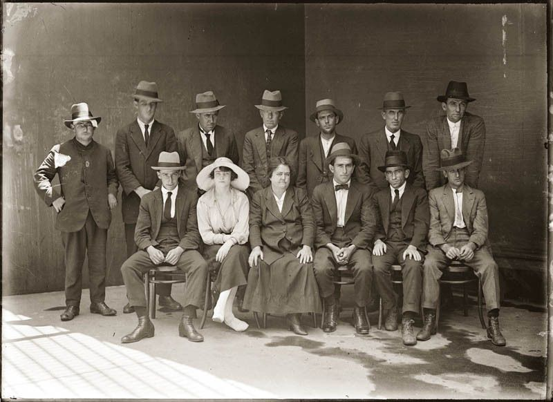 Group Shot of Criminals, 1921