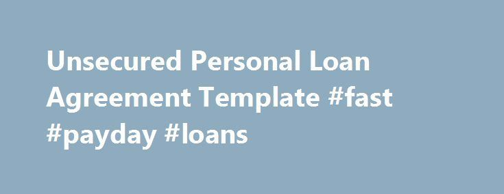 Awesome Credit Processing Unsecured Personal Loan Agreement