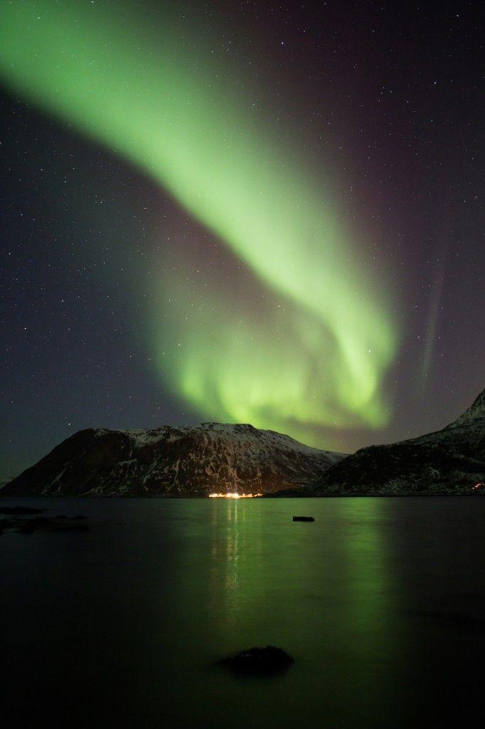 Auroras Boreales Desde Ersfjord Noruega 1 De Febrero De 2014 Crédito Frank Meissner 夜空 オーロラ