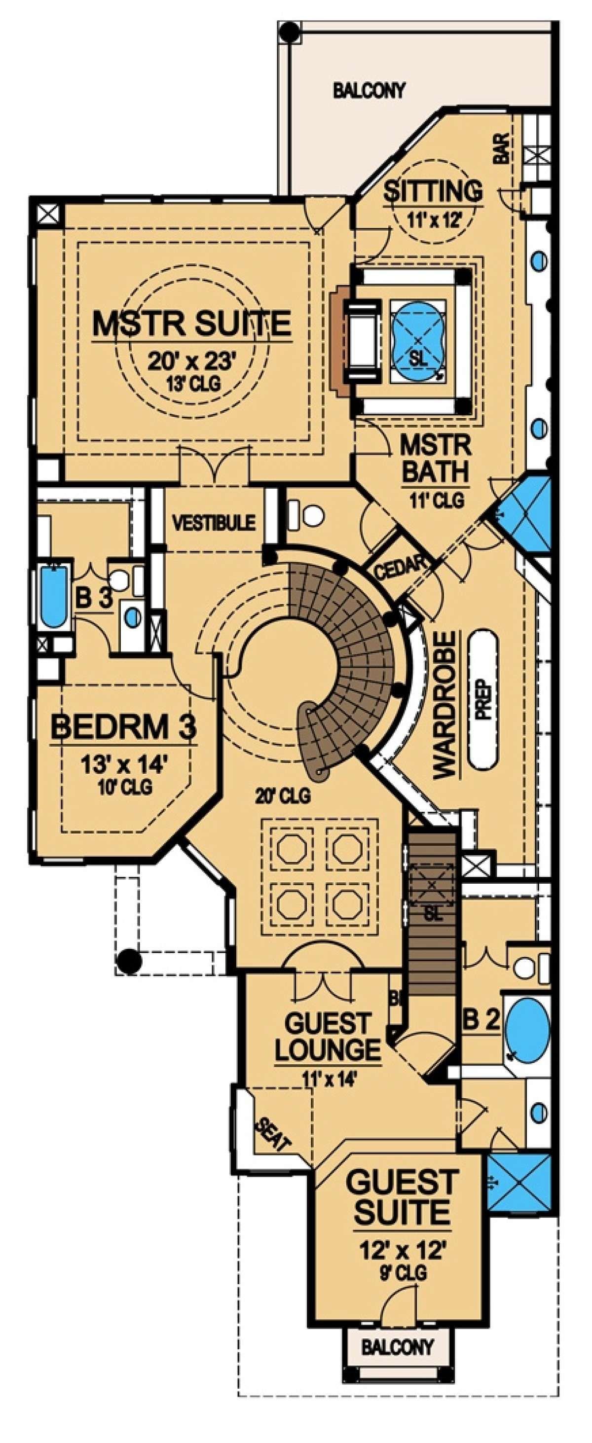 House Plan 5445 00217 Luxury Plan 4 281 Square Feet 3 Bedrooms 3 5 Bathrooms Narrow House Plans Luxury Plan House Plans
