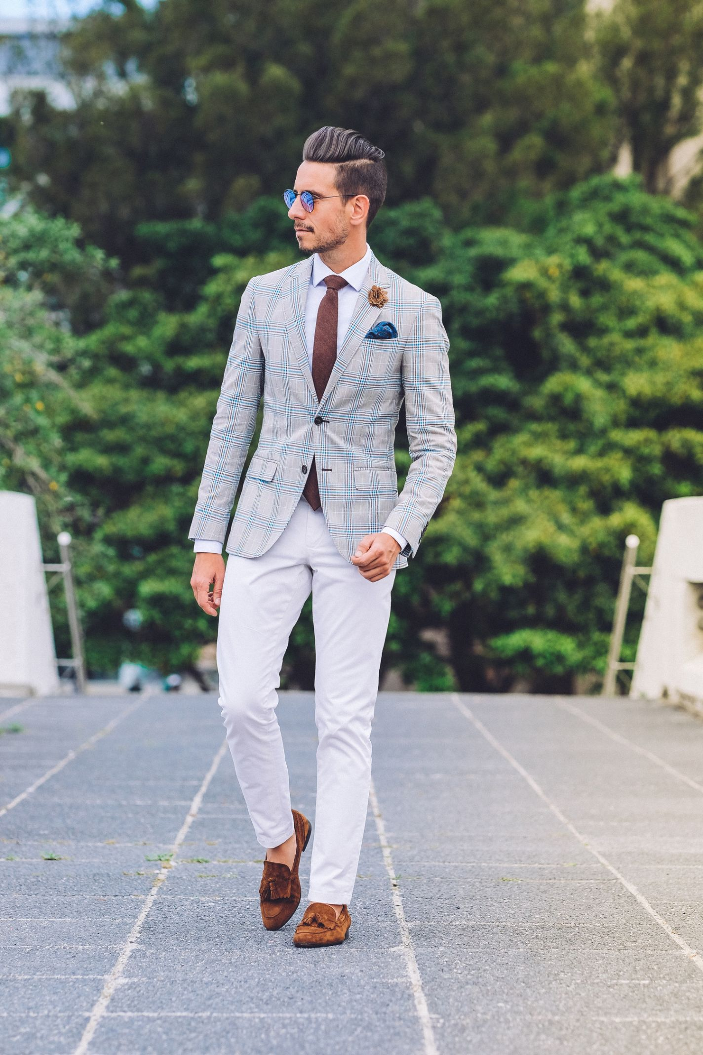 ead173f760d3 Men's Fashion Styles · Fancy, Dapper, Men, Smart, Check Blazer, Chinos,  White Shirt,