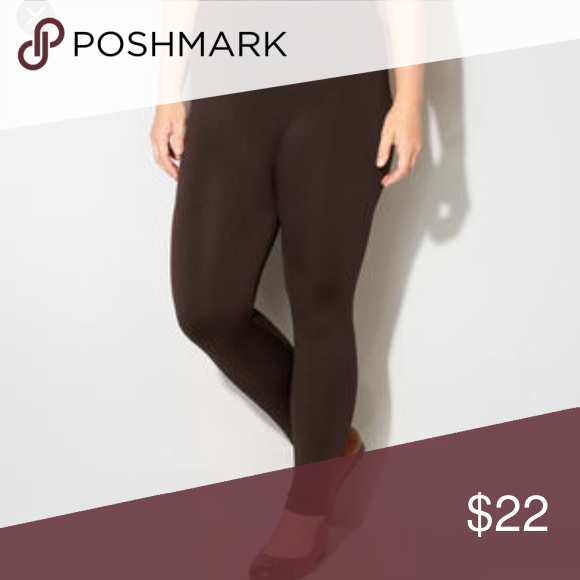 Plus size fleece lined leggings - brown Plus size fleece lined leggings . Perfect for Timmy control . Tag reads Osfa for plus size . Would be perfect fit upto size 18 very comfortably . Pants Leggings
