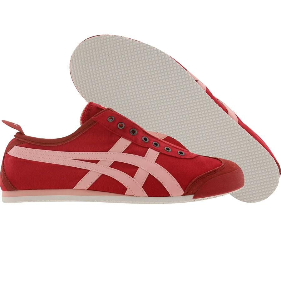 Asics Onitsuka Tiger Womens Mexico 66 Slip On (red   pink) D1B7N-2319 -   74.99 e25037d307
