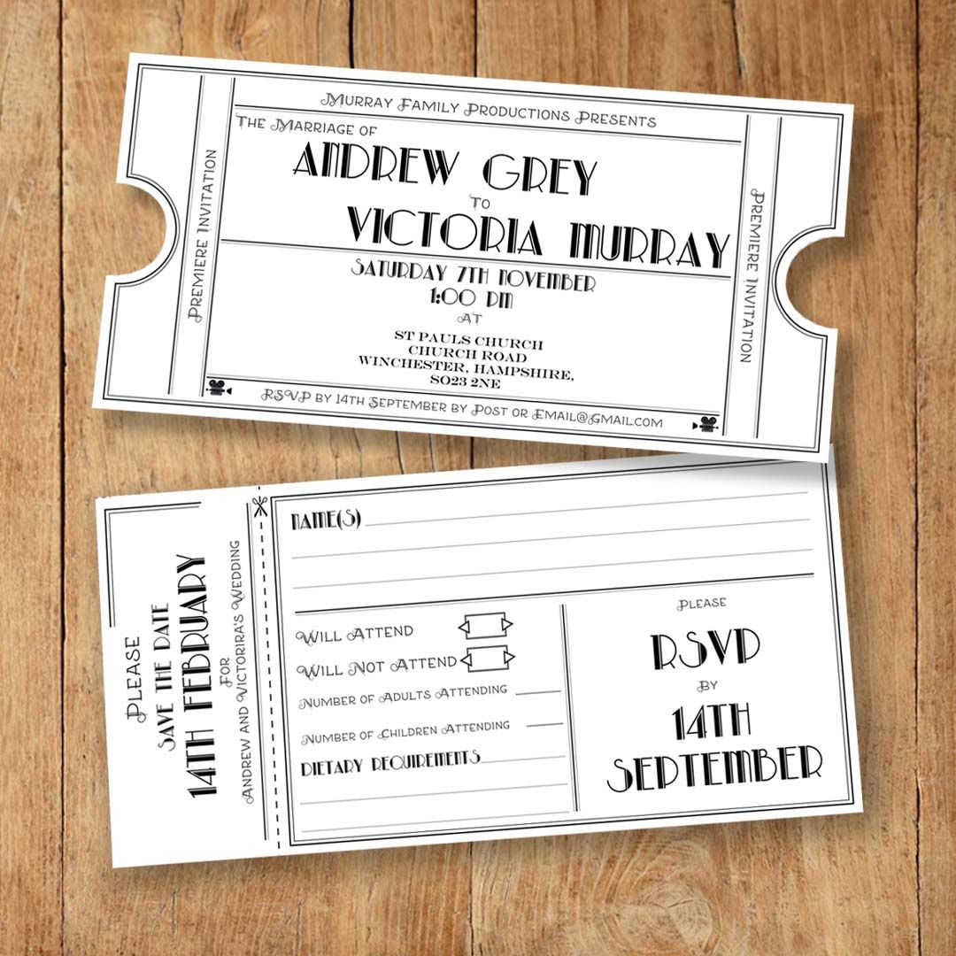 Print Wedding Invitations At Home: Printable Wedding Invites, RSVP, Save The Date And Info
