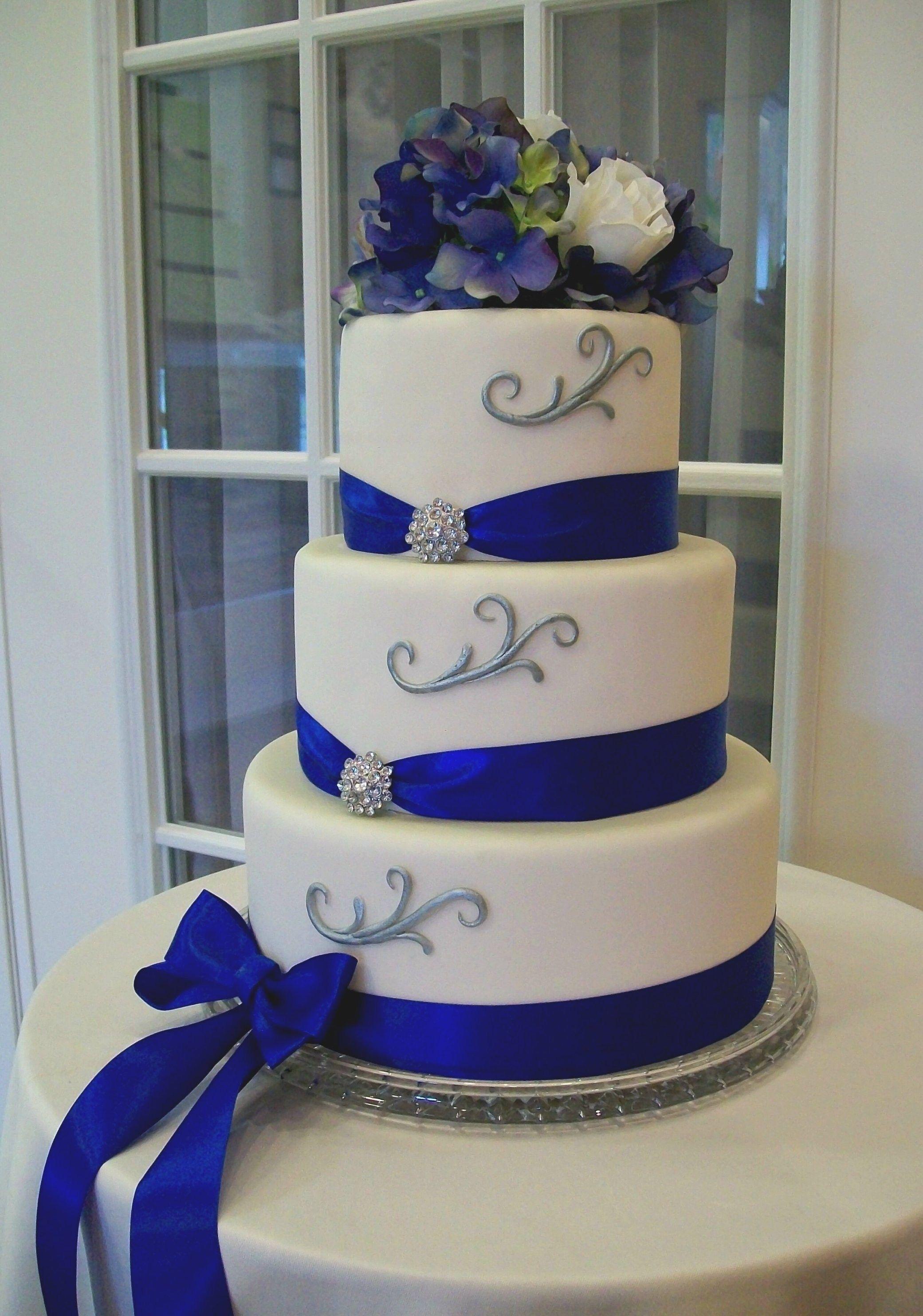 Wedding Cakes Blue And Silver Wedding Party Decoration Regarding