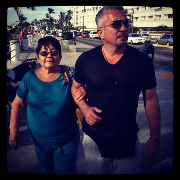 Walking with my mother over the weekend in Mazatlán.