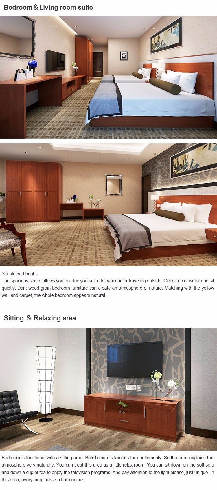 2016 New Project Hotel Transitional Furniture Design
