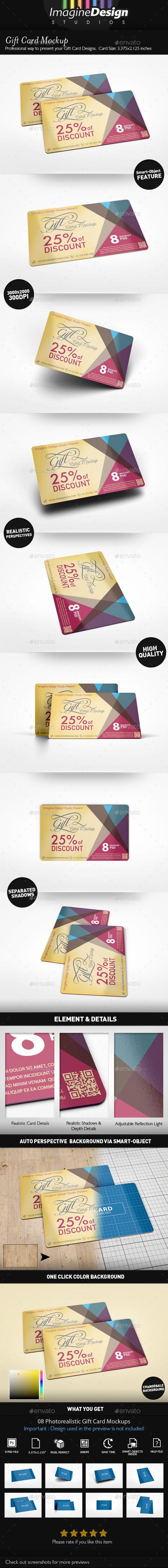 Gift Card Mockup | Mockup, Gift and Font logo
