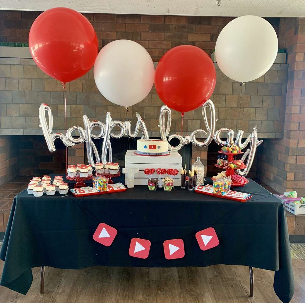 Youtube Birthday Party Ideas With Images Youtube Birthday Youtube Party Birthday Parties