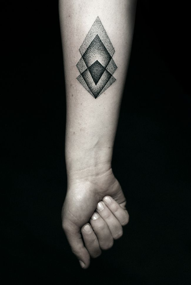These Screamingly Cool Black Ink Tattoos Exemplify Graphic Art At Its Best Black Ink Tattoos Simple Forearm Tattoos Geometric Tattoo Design