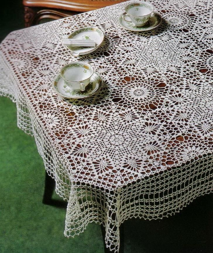 Crochet Throws: Crochet Lace Table Cloth Pattern the graph is here ...