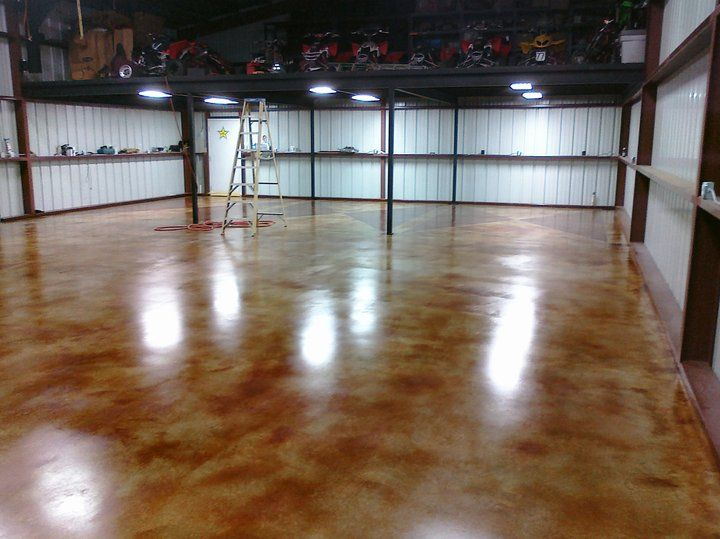 stain concrete floor basement acid stained images colors