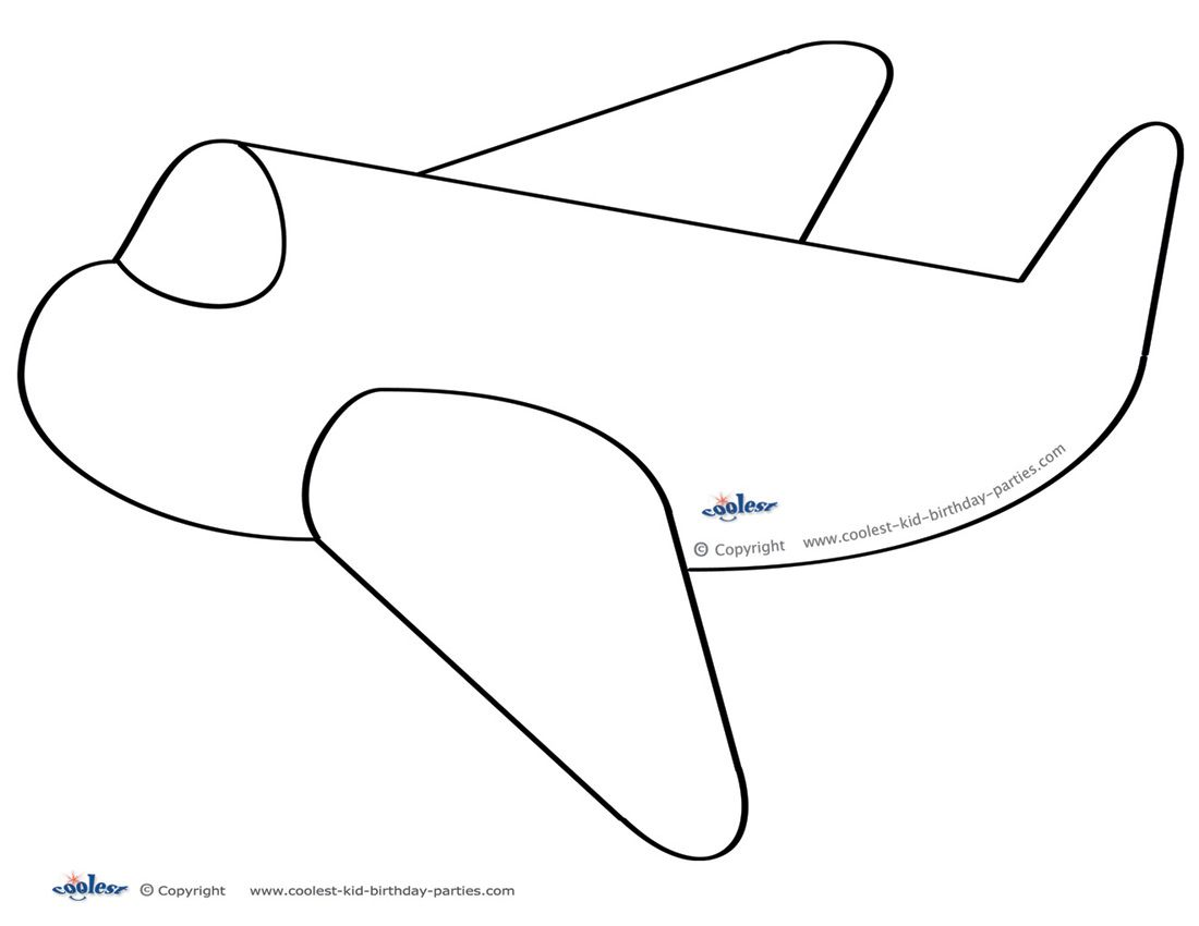 Large printable airplane decoration coolest free for Cut out airplane template