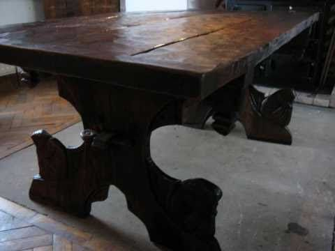 Attractive AUnique Hand Crafted Fantasy Medieval Table Viking Carved By Tobiasoak,