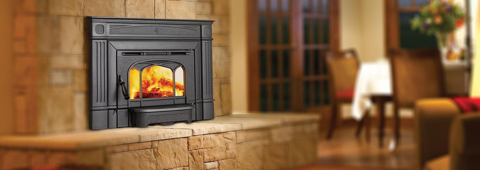 Regency Hi200 Shown With Metallic Black Finish Fireplace Stores Wood Wood Insert