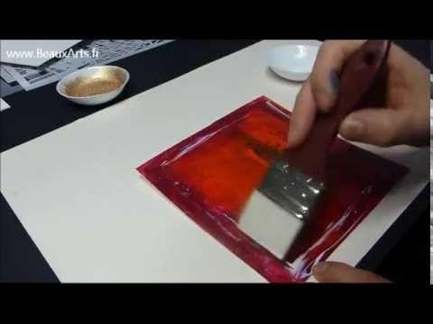Cours peinture acrylique 9  Tutoriel pigments sur toile - YouTube