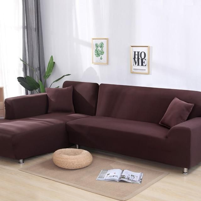 Decor Home Store Sectional Sofa Couch Cover Plain Color In 2020