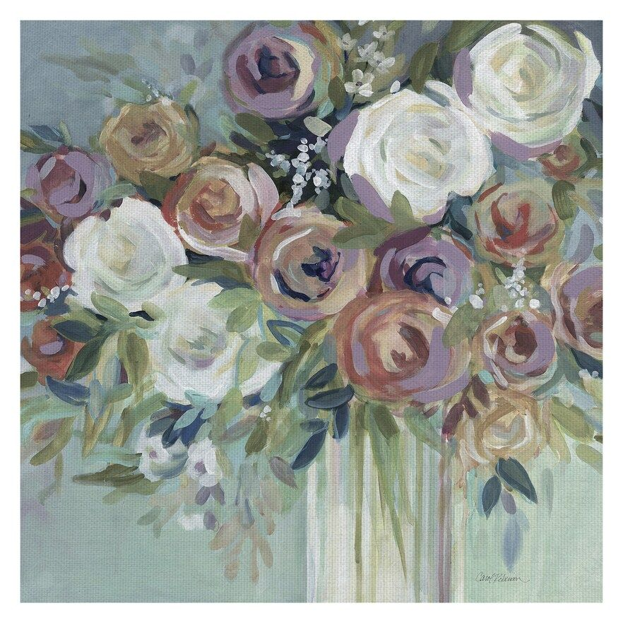 BOUQUET OF FLOWERS CANVAS PICTURE PRINT WALL ART HOME DECOR FREE DELIVERY