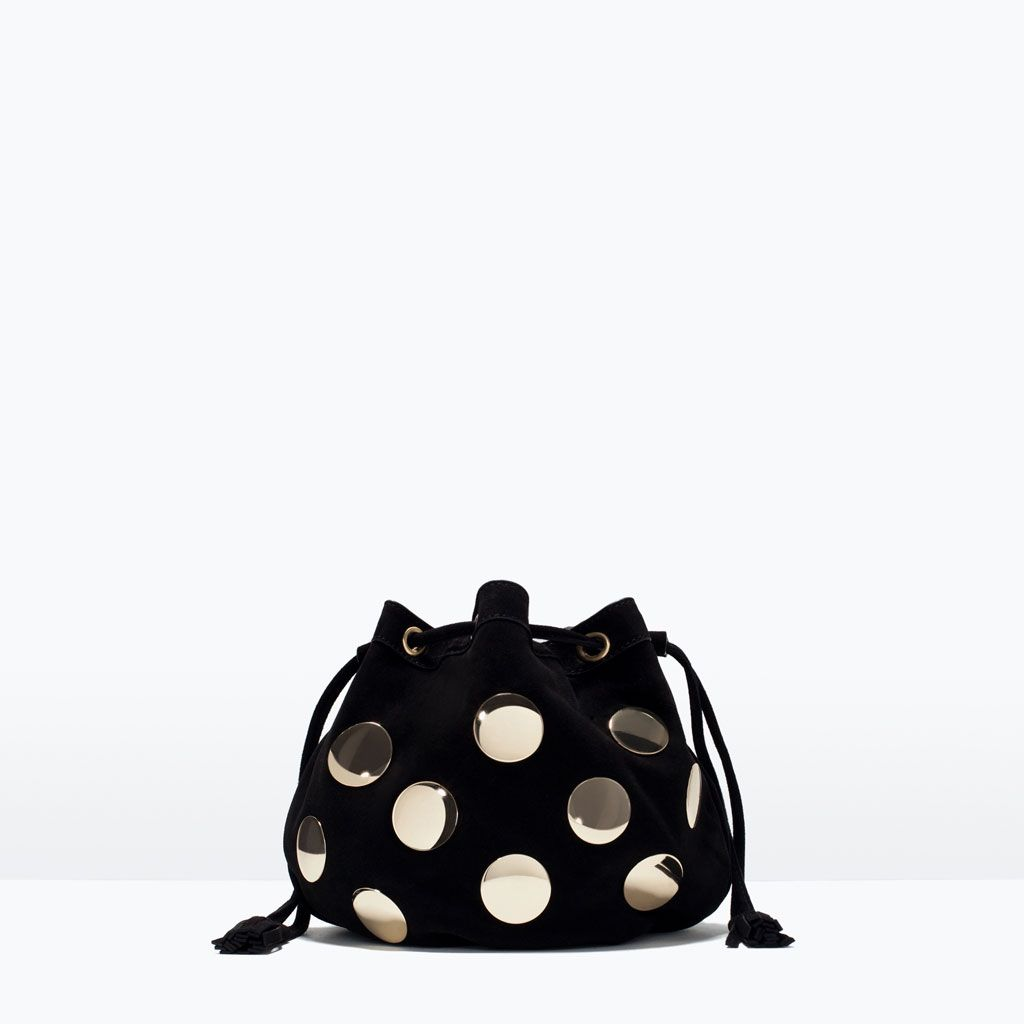 928ee7e866 METAL DETAIL LEATHER MINI BUCKET BAG - Bags - Woman - SHOES & BAGS | ZARA  United States