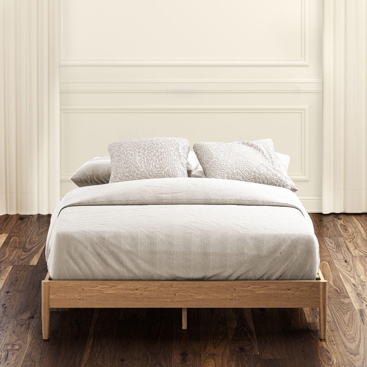 Amelia Wood Platform Bed Frame in 2020 Wood platform bed
