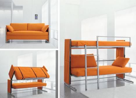 Convertible couch bunk beds by Eteleson on Etsy, $1216.00