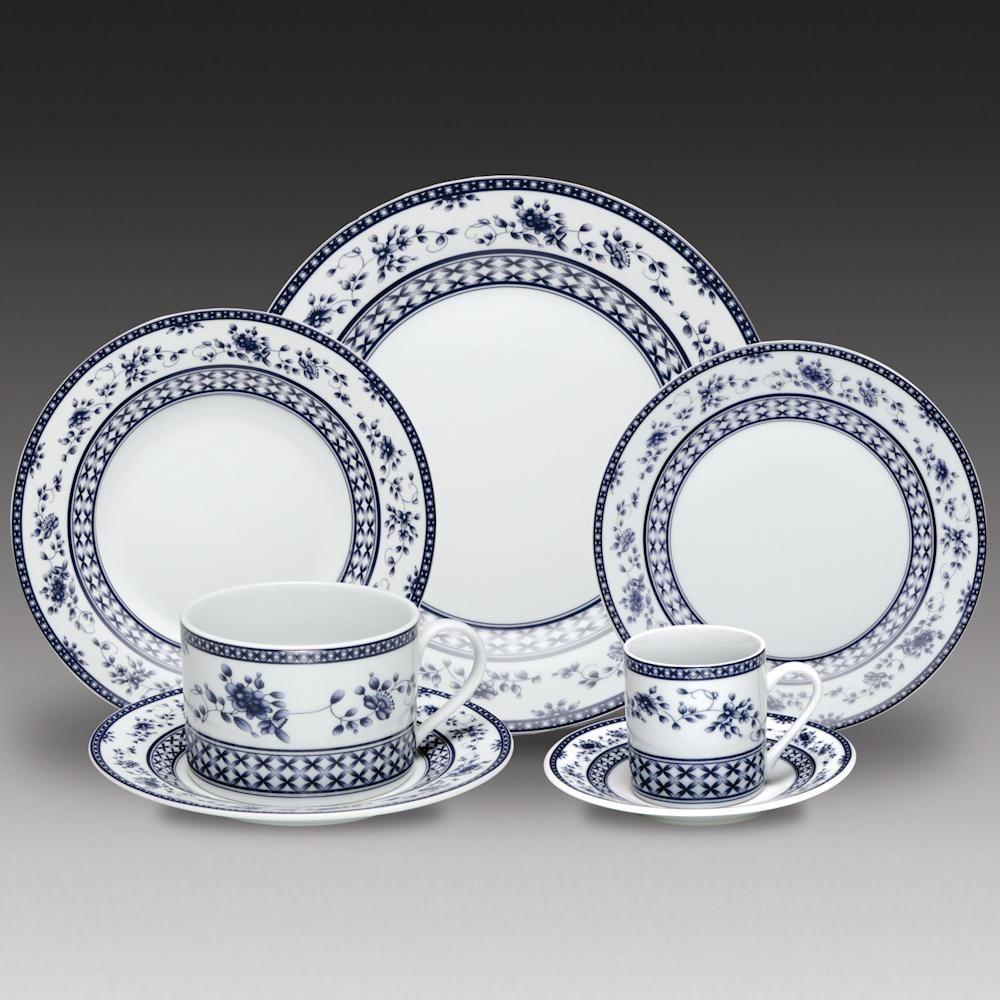 Jogo de Jantar de Porcelana Regina Azul 42 Peças  -  R$ 822,55 ou até 10x de R$…