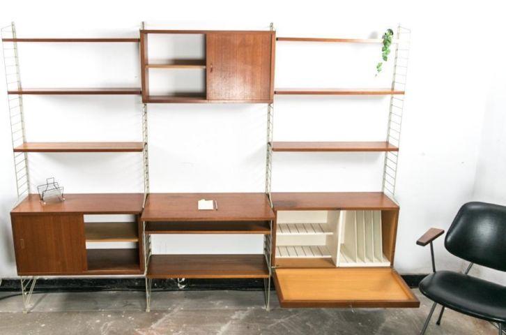 Design String Kasten : Groot nisse string wandmeubel vintage design retro huis