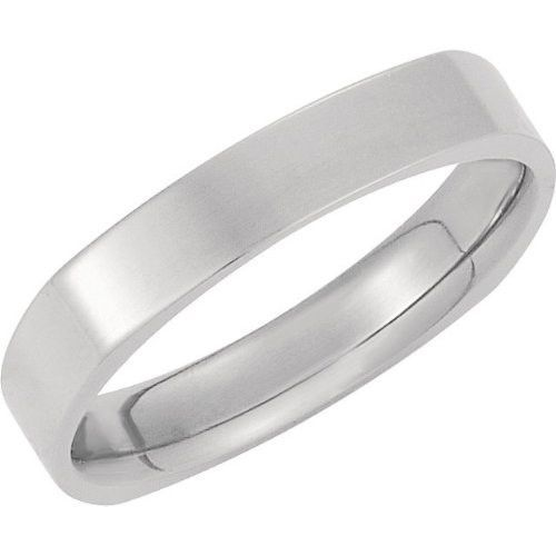 14k White Gold 2 5mm Square Comfort Fit Plain Men S Wedding Band Available Ring Sizes 7 12 Mens Wedding Bands Wedding Ring 14k White Gold Wedding Men