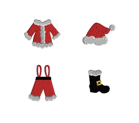 Mini Santa Suit Machine Embroidery Designs-INSTANT DOWNLOAD